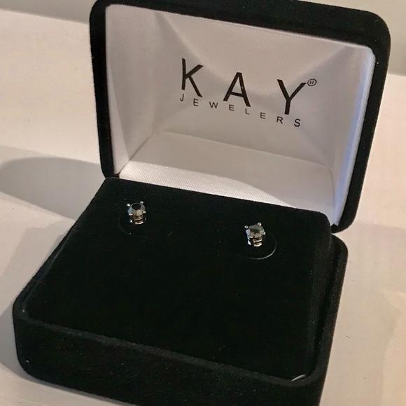 27e7a44c4 Kay Jewelers Jewelry | Black Diamond Earrings 12 Ct 10k White Gold ...